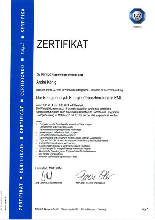 140513_Zertifikat_Energieeffizienz_TUEV_Sued_AKoenig_01